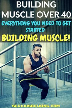 How to build muscle over 40 - Where and how to get started. Make a change in your life today and start building muscle, even if you are over Basic Gym Workout, Gym Workout Chart, Squat Workout, Toning Workouts, Kettlebell Training, Muscle Training, Muscle Fitness, Mens Fitness, Gym Plans