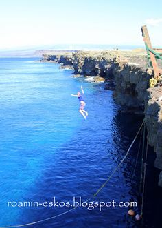 Cliff Diving on the Big Island, Hawaii This is the most southern point in the United States!
