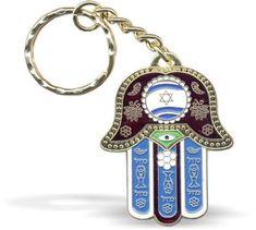 Key Holder Hamsa Good Luck Mazal Hebrew Israeli Flag Travellers Prayer Judaism  | Collectibles, Religion & Spirituality, Judaism | eBay!