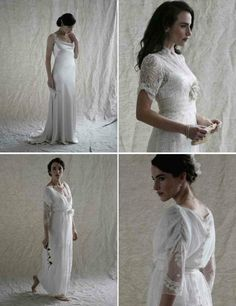 Vintage Inspired from Across the Pond: Downton Abbey Bridal Gowns | OneWed