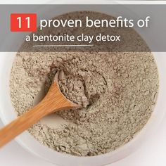 """For thousands of years, people have been using bentonite clay as a way to detox and heal their body. That's because bentonite is considered a """"healing clay"""" with powerful benefits. Along with rubbing the clay on your skin, you can also ingest it. I know what you're thinking ... """"Why the heck..."""