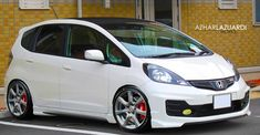 Honda Fit mugen type r by ALWorks on DeviantArt Honda Fit, Honda Jazz Modified, Modified Cars, Honda Vtec, Honda Civic, Honda Cars, Japan Cars, Cute Cars, Performance Cars