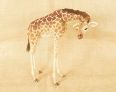 *NEEDLE FELTED ~ Bailey the Fawn Needle felted animal sculpture by TheWoolenWagon