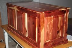Solid Cedar Raised Panel Blanket Chest - by tooldad @ LumberJocks.com ~ woodworking community
