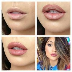 Get the look of Kylie Jenner lips using makeup...not suctioning your lips haha. You could get this look by using Younique lip pencil in Pouty with lip gloss in Luxe. Lovely full lips! http://www.youniqueproducts.com/cherise1218