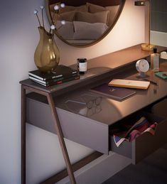 Barbican Blake Tower by Conran and Partners Makeup Furniture, Bathroom Furniture, Table Furniture, Home Furniture, Furniture Design, Furniture Inspiration, Interior Inspiration, Luxury Apartments London, Study Table Designs