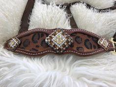 Mandy's Custom Tack custom cheetah stingray bronc halter