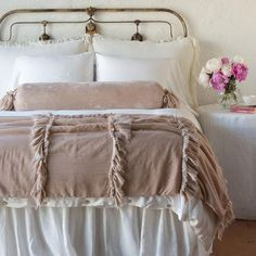 Modern French Country, French Country Bedrooms, French Country Cottage, French Country Decorating, Country Cottage Bedroom, French Country Bedding, French Country Furniture, Country Cottages, Country Chic Bedding