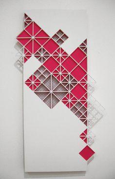 Breaking Kites  Dark Neon Pink  Wall Hanging by sfettingis on Etsy, $450.00
