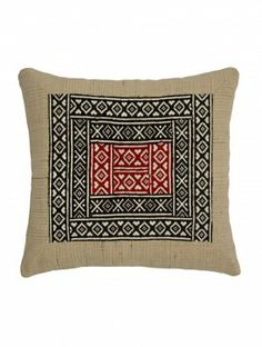 Tribal Cotton Cushion Cover - 17in X 16in