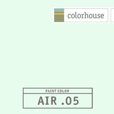 Colorhouse AIR .05: The color of reflective light from outside – a light, airy vapor. A hue that lifts and breathes in a space. This color feels at home on a ceiling.