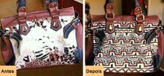 See this DIY how to renew the damaged bag with easy customization: http://customizando.net/como-renovar-bolsa-com-sobreposicao/