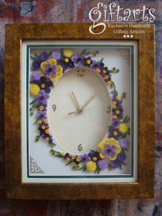 Eccentric Quilling Arrangement on Wall Clock
