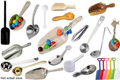 all kinds of scoops , perfect for candy buffets #candybars #candybuffet #candyparty #scoops