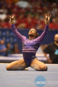 19 APR 2014: Louisiana State University's Lloimincia Hall performs on the floor exercse during the Division I Women's Gymnastics Team Championship held at the Birmingham Jefferson Convention Complex in Birmingham, AL. Chris Putman/NCAA Photos