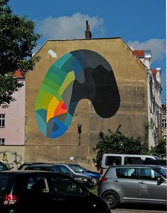 Subtle But Colorful Abstract Street Art