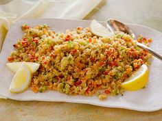 Rainbow Bell Pepper Couscous : Served hot or cold, this couscous is a fabulous source of hearty whole grains and veggies.