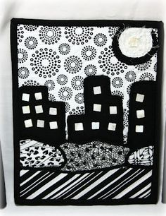 small cityscape art quilt - Scramp Alot