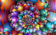 Striated Rainbow Spiral by wolfepaw.deviantart.com on @DeviantArt