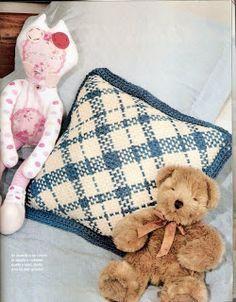 Almohada con telar cuadrado