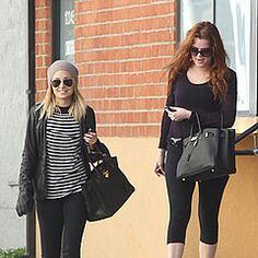 Nicole Richie and Khloe Kardashian with their black Birkins