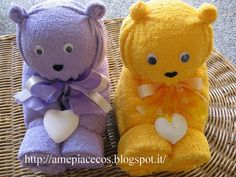 Towel Bears - step by step Photo tutorial - Bildanleitung - scroll down