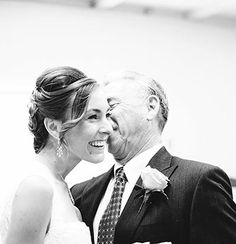 A sweet moment between the bride & father of the bride. Shop inspiration from real wedding galleries at shopmrmrs.com