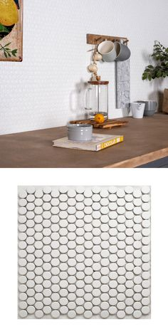 Rejuvenate a kitchen or bathroom wall or floor space with these trendy Circular White Matt Mosaic Tiles. Room Wall Tiles, Wall And Floor Tiles, Round Kitchen, Cheap Kitchen, Penny Tile Floors, Penny Round Tiles, White Mosaic Tiles, Tile Layout, Kitchen Wall Tiles
