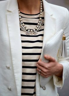 The Grey Area... >> Obsessed with nautical and stripes. In fact, I own something very similar to this.