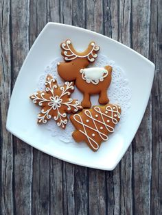 Easy Holiday Cookies, Fancy Cookies, Holiday Treats, Gingerbread Cookies, Christmas Cookies, German Christmas Food, Christmas Sweets, Christmas Baking, Christmas Biscuits