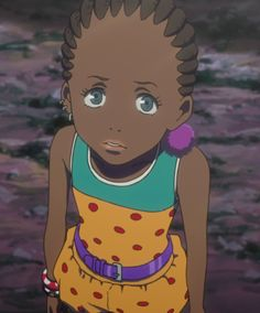 "Supporting character, Rita Ozzetti, the acrobat for a traveling circus that befriends Hana ""Hatchin"" Morenos in the episode of Michiko to Hatchin. Old Anime, Manga Anime, Anime Art, Character Aesthetic, Aesthetic Anime, Character Design, Michiko & Hatchin, Dope Cartoons, Black Anime Characters"
