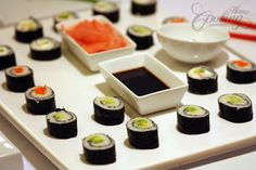 Sushi is perfect for a tasty and fancy dinner with your friends. There are so many options for filling the sushi rolls that you can never get bored of this meal. Served with pickled ginger, soy sauce and my favorite ingredient: wasabi makes it just perfect.