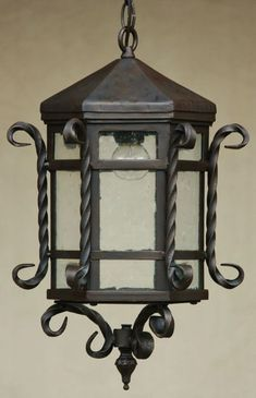 27 Ideas Outdoor Lighting Wall Lanterns Wrought Iron For 2019 Hanging Lantern Lights, Outdoor Hanging Lights, Outdoor Wall Lantern, Outdoor Lighting, Ceiling Fixtures, Light Fixtures, Spanish Style Bathrooms, Wrought Iron Chandeliers, Spanish Revival