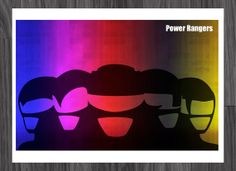 Minimalist Power Rangers Art Poster 11x17 by adesigngeek on Etsy, $14.99