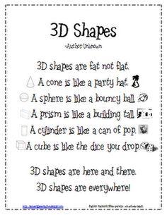 Geometry - 3D shapes!