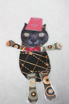 Because cats in fezzes  are cool by kittykittycupcake on Etsy, $10.00