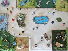 Making a Small World Zoo with Everyday Items - Best Toys 4 Toddlers Toddler Activities, Preschool Activities, Projects For Kids, Crafts For Kids, Diorama Kids, Zoo Book, Zoo Project, Old Book Crafts, Montessori Art