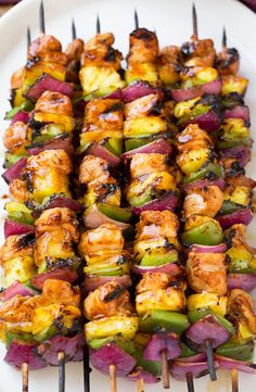 nom-food:  Hawaiian chicken kebabs