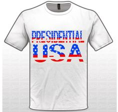 Presidential U.S.A Tee 100% cotton Size: X-Small, Small, Medium, Large, X-Large, 2XL, 3XL, 4XL Color: White Check our our Zazzle Shop Price: $24.99