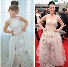This 4-Year-Old And Her Mom Make Incredible Paper Versions Of Famous Dresses