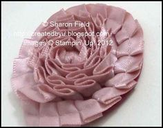Pleated Satin Ribbon Flower by Sharon_Field at Created by You.