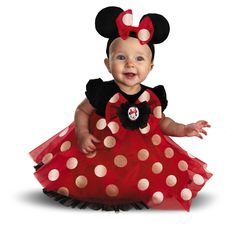 Disney Red Minnie Baby Costume @Kendall Finlayson Finlayson Finlayson Hileman  Cute Baby Halloween Costumes