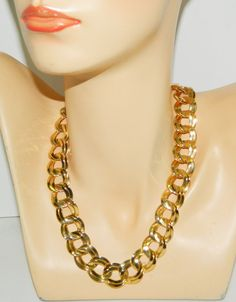 """Vintage Classic Gold Tone 22"""" Chunky Chain Necklace #Unbranded #Chain"""