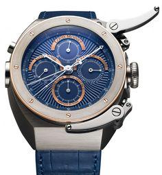 Louis Moinet   Jules Verne Instrument 2 Midnight Blue Dial   Titan   Uhren-Datenbank watchtime.net