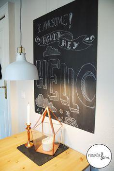 Rosalie&me: SundaySketch #3; Chalkboard, Chalk, Tafelfarbe, Tafelkreide, Hand Lettering