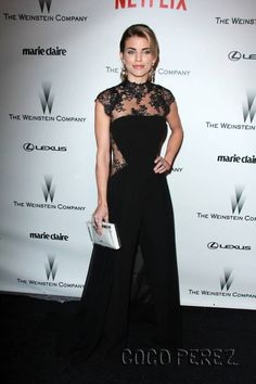 AnnaLynne McCord Wearing GEMY MAALOUF in Weinstein Company and Netflix Golden Globes Party, Los Angeles, January 11, 2015.