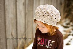 Slouchy Hat Crochet Pattern Crochet Girl Hat by MelodysMakings