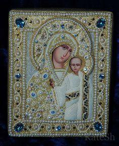 """Оклад на икону,именуемую  """"Казанская Богородица"""""""