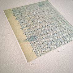 Like a Graph paper ・ etching with chine-collé(Etsy のoo3oo3より) https://www.etsy.com/jp/listing/568167609/like-a-graph-paper-etching-with-chine