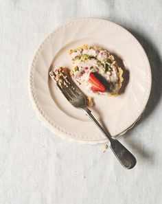 Strawberry & Pistachio No-Bake Tarts   Chantelle Grady